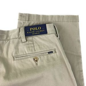 Polo Ralph Lauren Beige Relaxed Fit Flat Front Pants NWT
